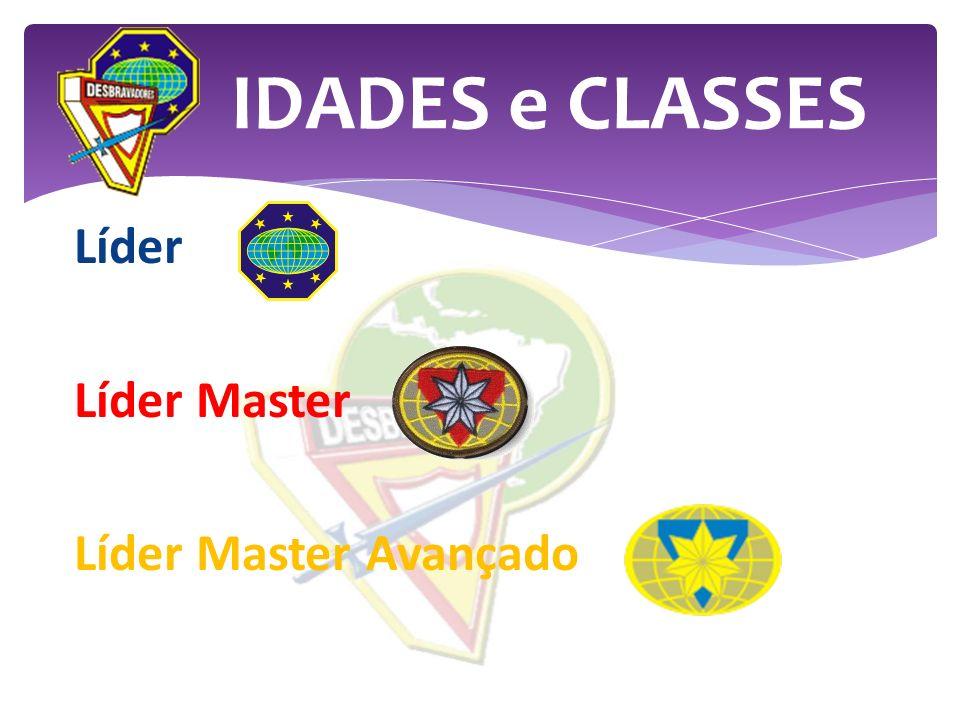 IDADES e CLASSES Líder Líder Master Líder Master Avançado