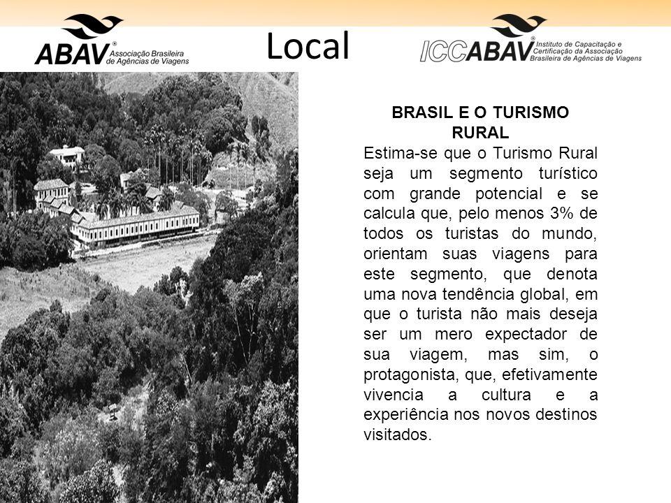 BRASIL E O TURISMO RURAL
