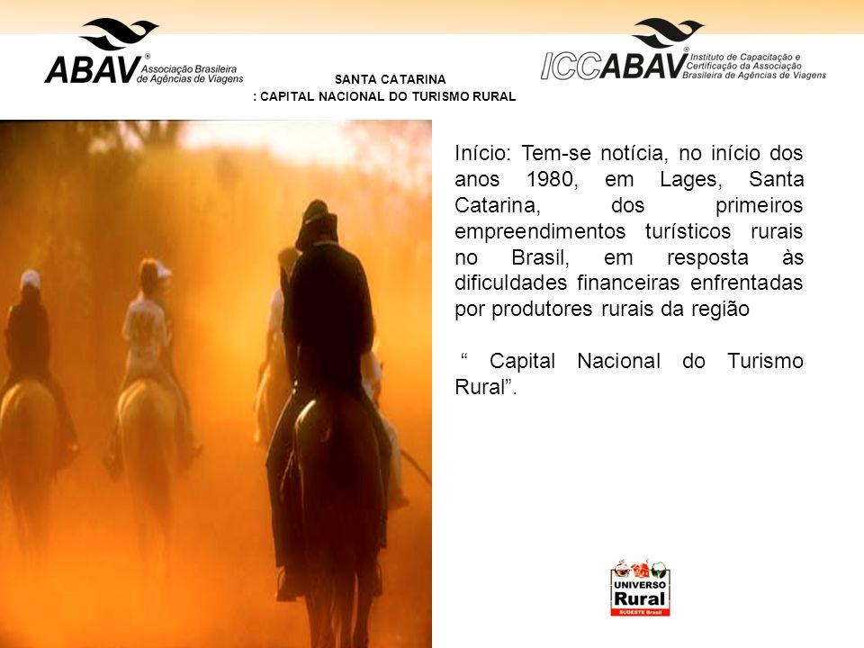 : CAPITAL NACIONAL DO TURISMO RURAL