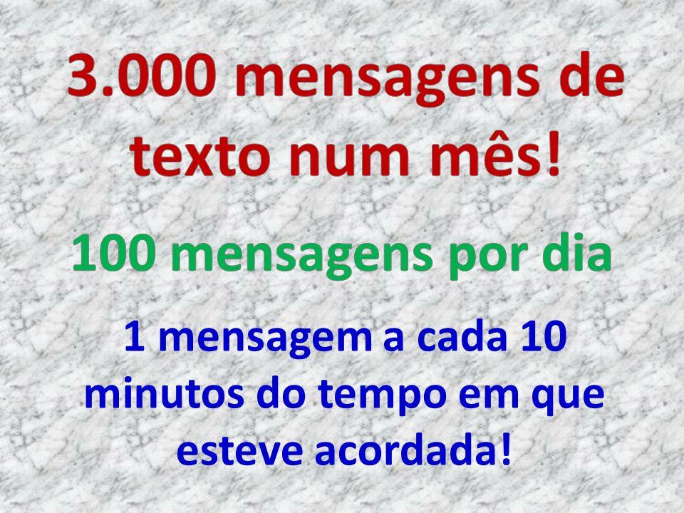 3.000 mensagens de texto num mês!