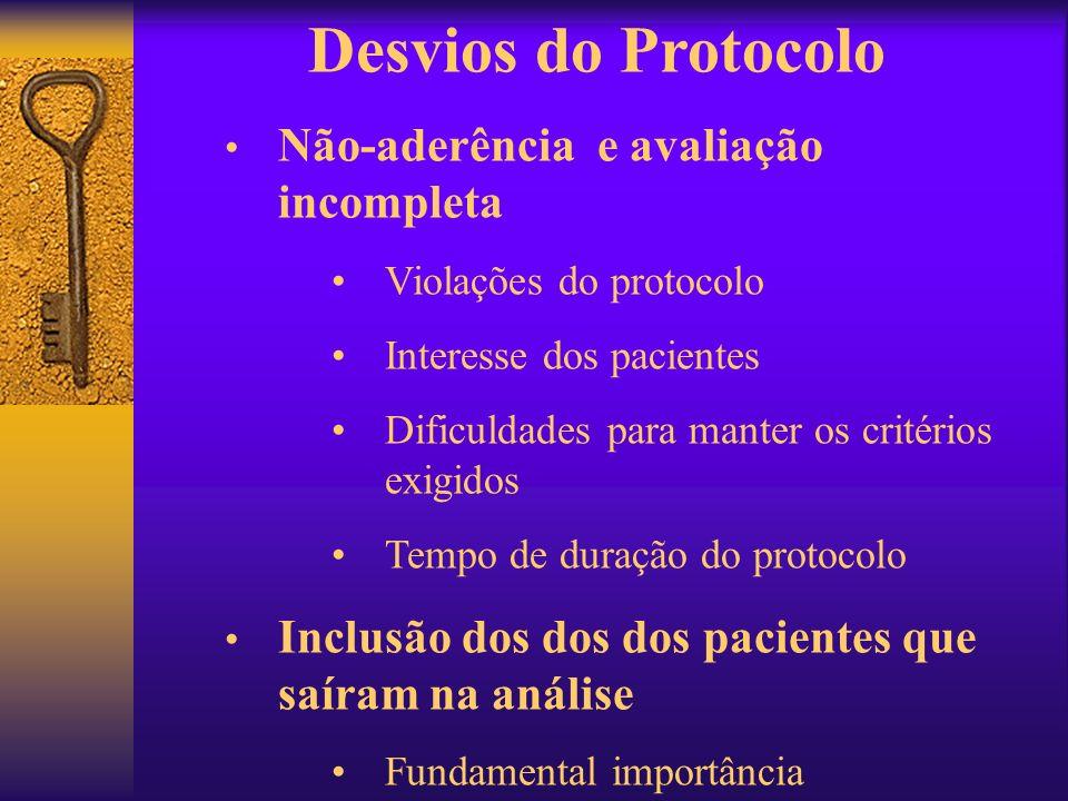 Desvios do Protocolo Não-aderência e avaliação incompleta