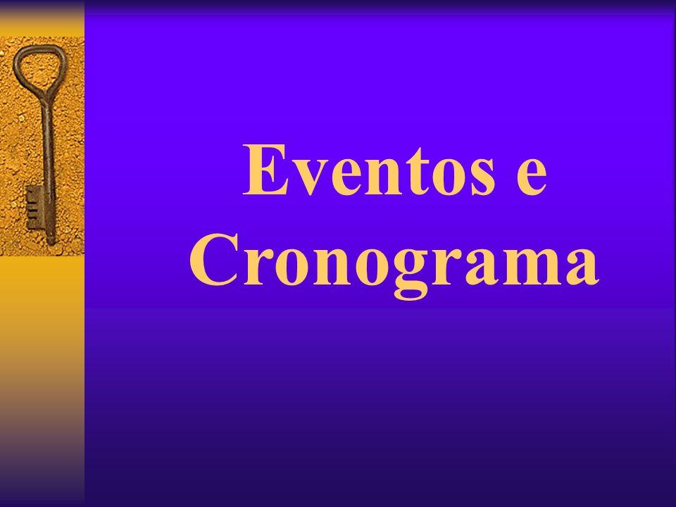 Eventos e Cronograma