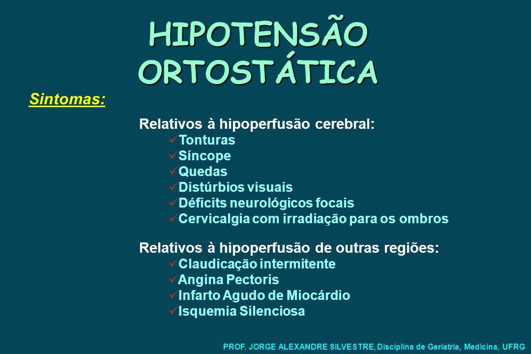 HIPOTENSÃO ORTOSTÁTICA