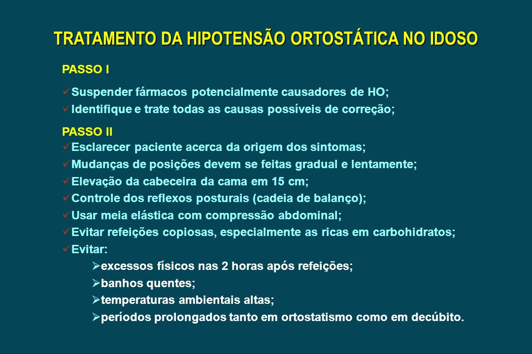 TRATAMENTO DA HIPOTENSÃO ORTOSTÁTICA NO IDOSO