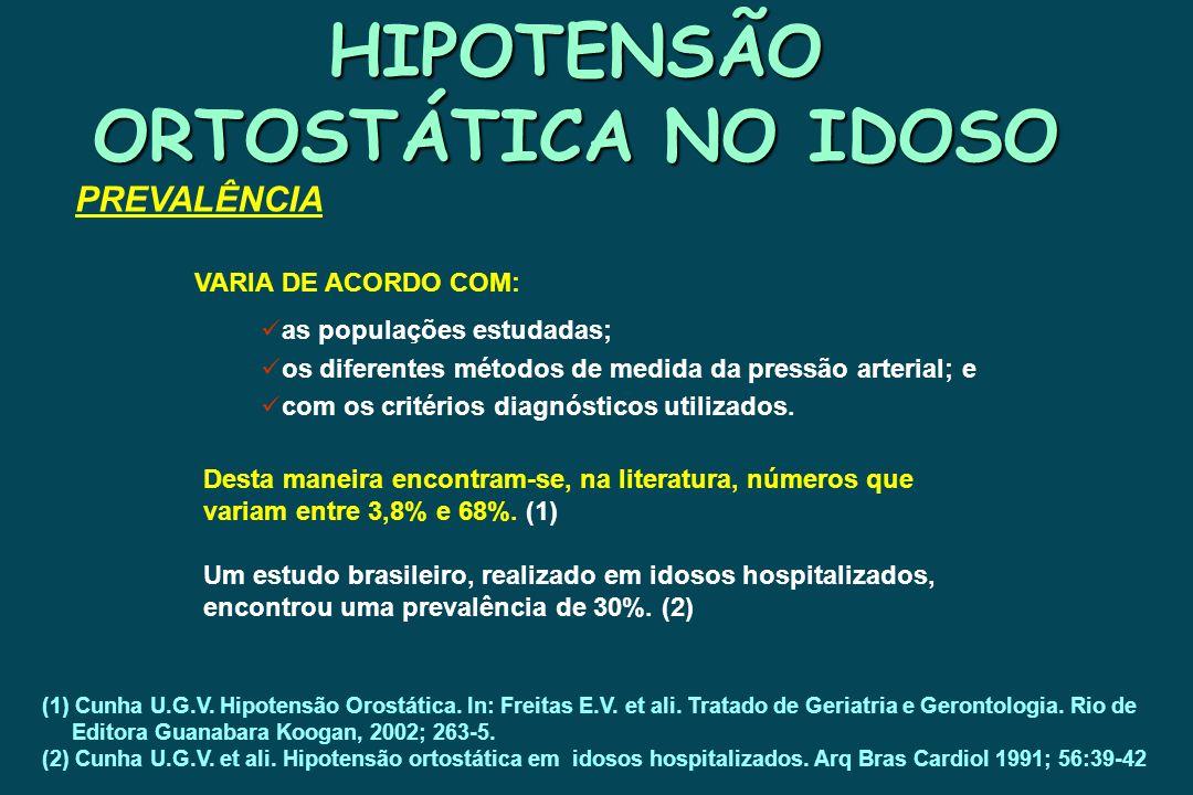 HIPOTENSÃO ORTOSTÁTICA NO IDOSO