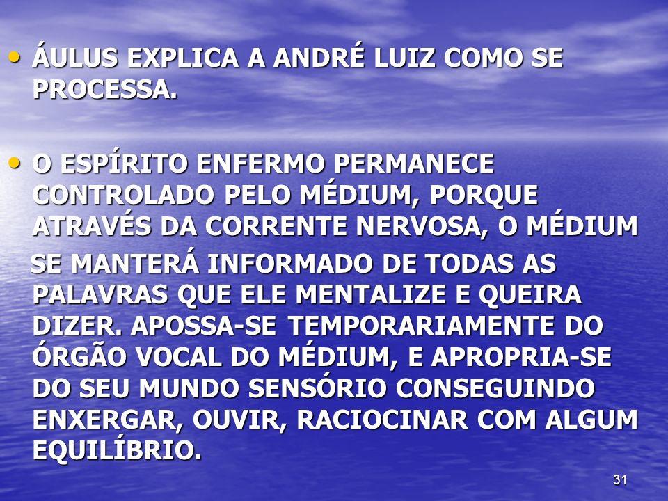 ÁULUS EXPLICA A ANDRÉ LUIZ COMO SE PROCESSA.