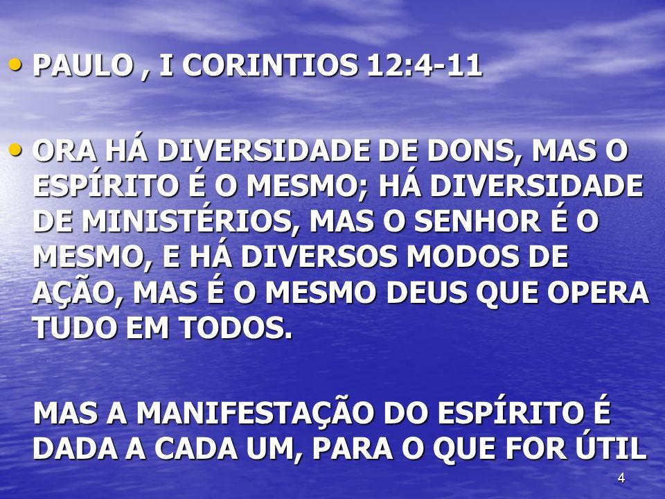 PAULO , I CORINTIOS 12:4-11