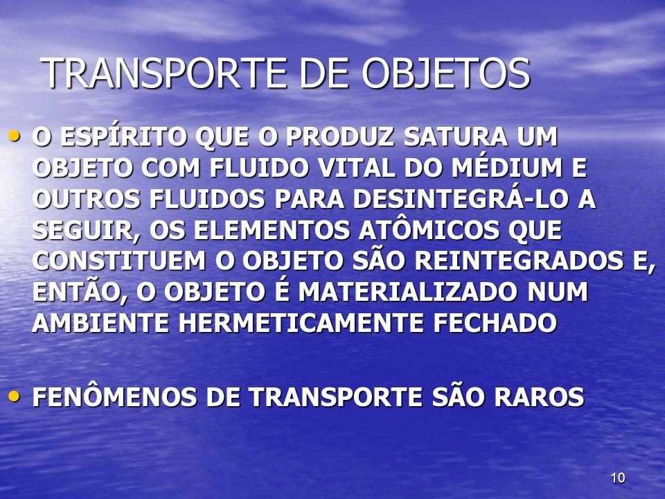 TRANSPORTE DE OBJETOS
