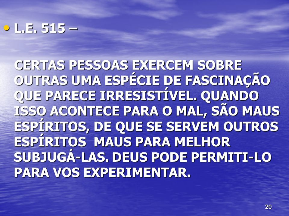 L.E. 515 –