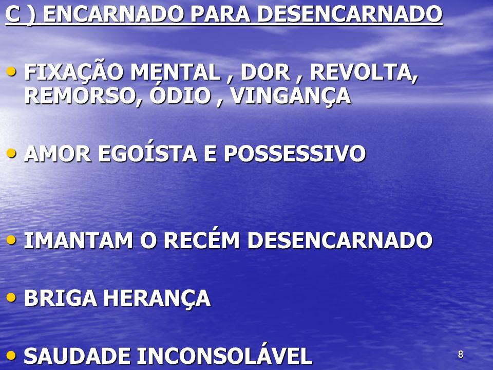 C ) ENCARNADO PARA DESENCARNADO