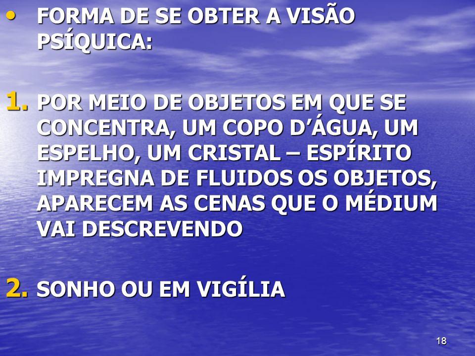 FORMA DE SE OBTER A VISÃO PSÍQUICA: