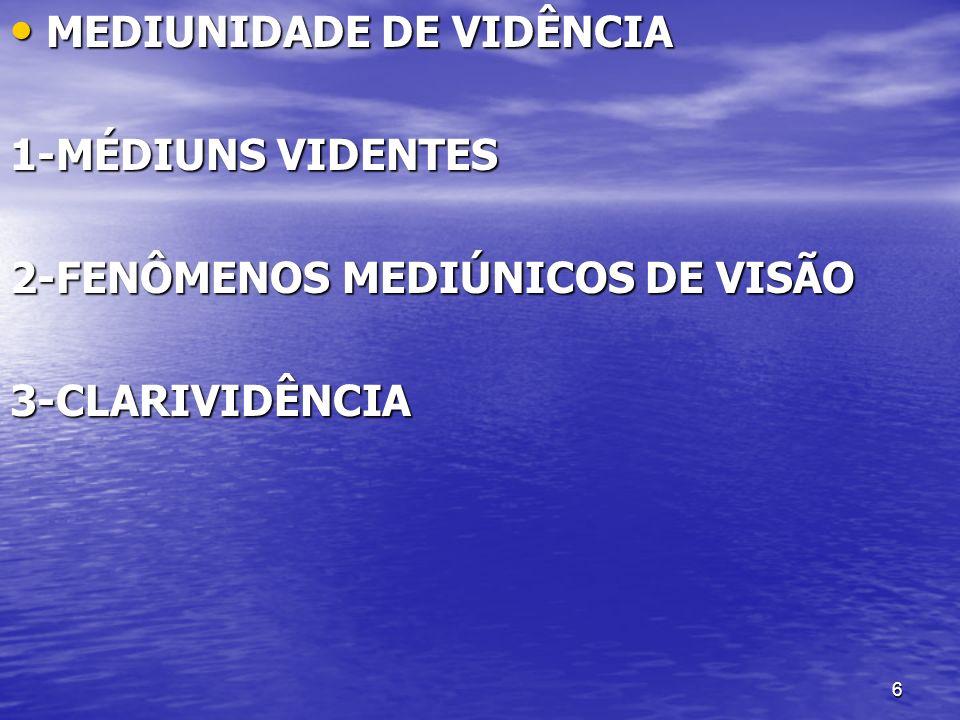 MEDIUNIDADE DE VIDÊNCIA