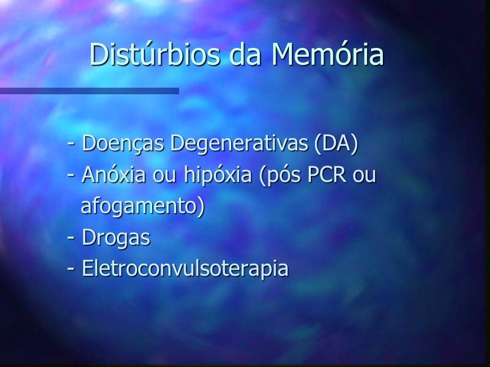 Distúrbios da Memória - Doenças Degenerativas (DA)