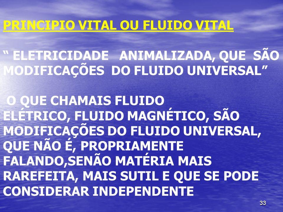 PRINCIPIO VITAL OU FLUIDO VITAL