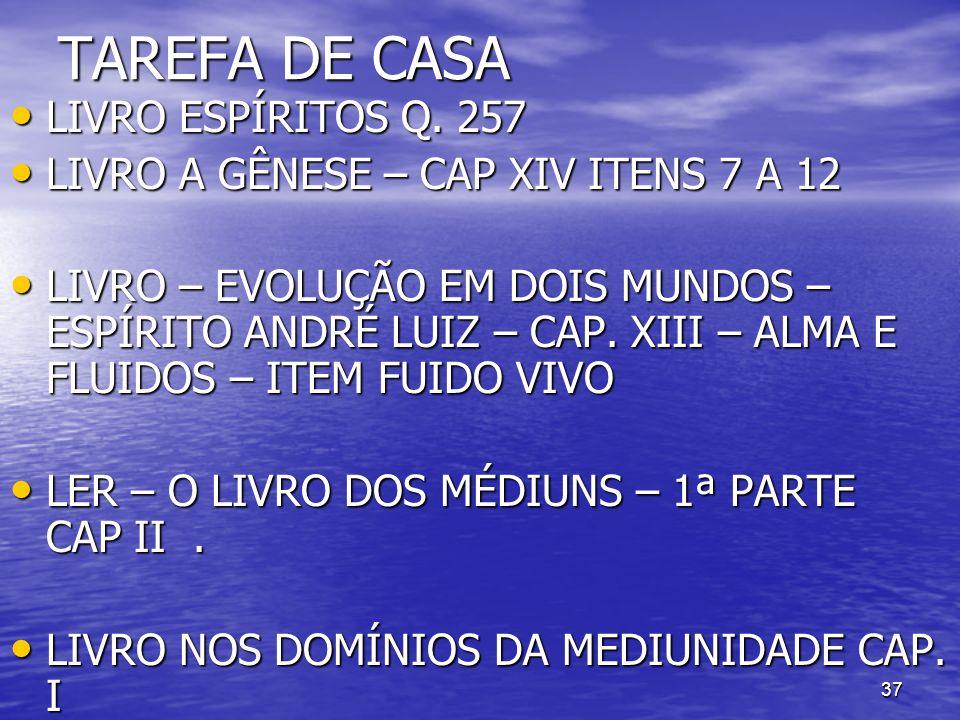TAREFA DE CASA LIVRO ESPÍRITOS Q. 257