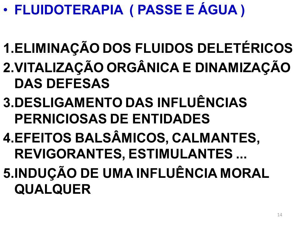 FLUIDOTERAPIA ( PASSE E ÁGUA )