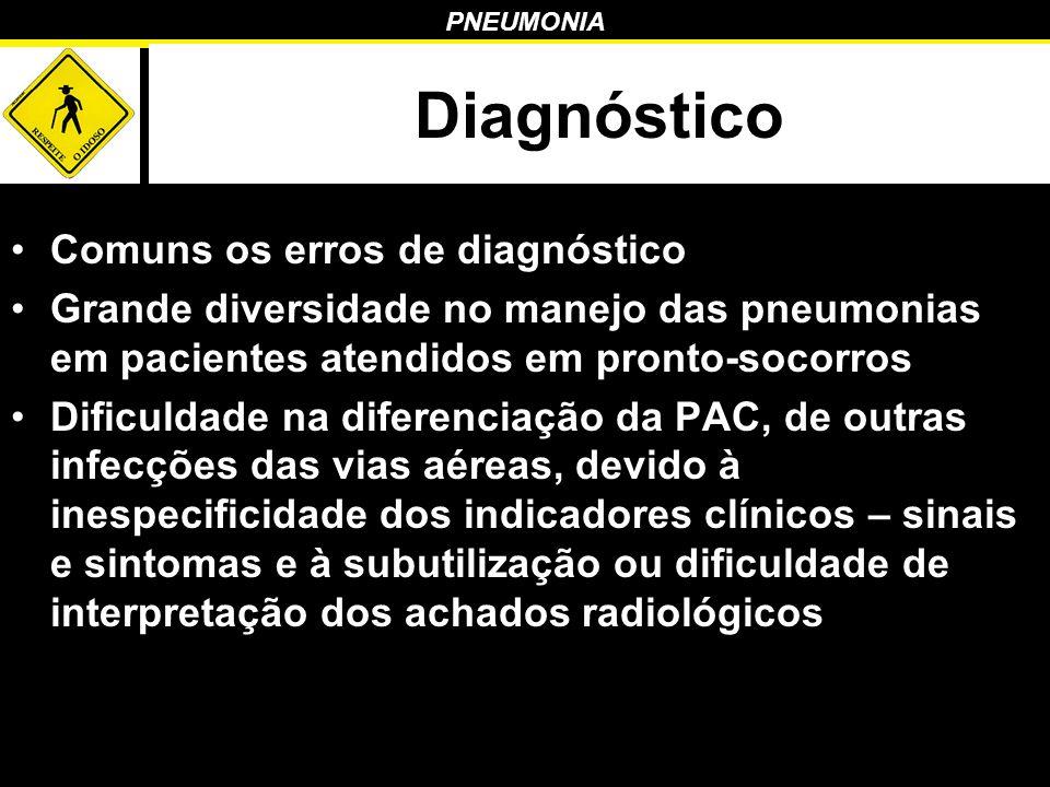 Diagnóstico Comuns os erros de diagnóstico