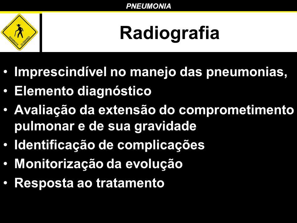 Radiografia Imprescindível no manejo das pneumonias,