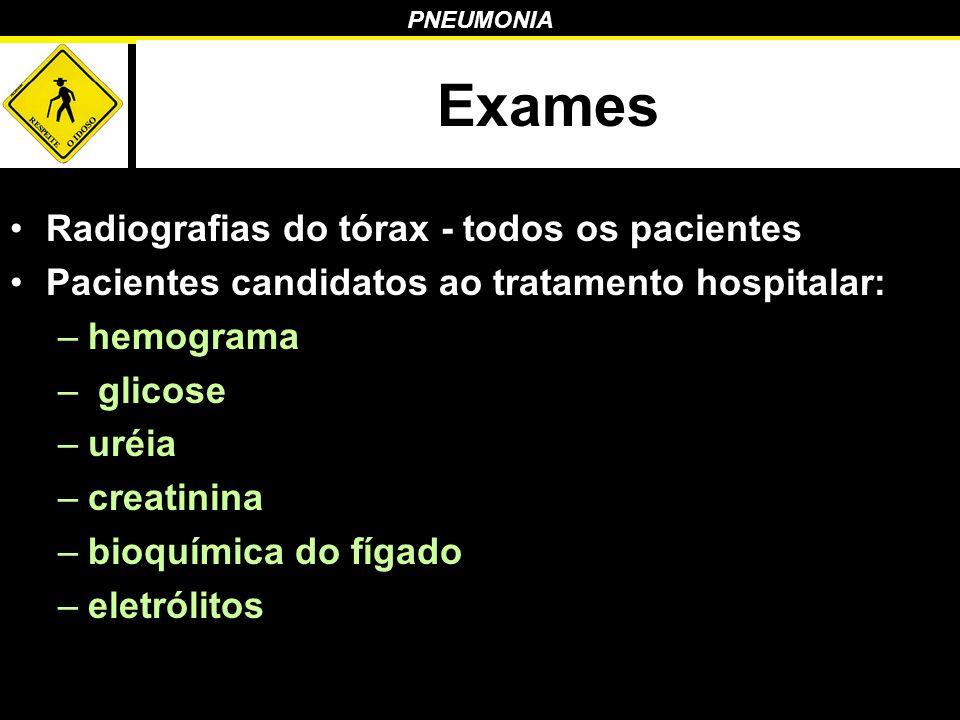 Exames Radiografias do tórax - todos os pacientes