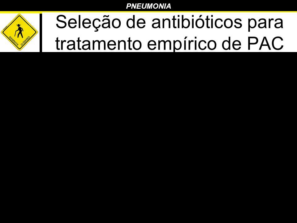 Seleção de antibióticos para tratamento empírico de PAC