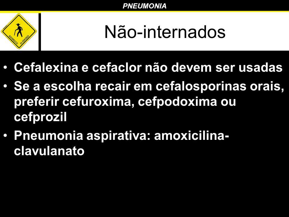 Não-internados Cefalexina e cefaclor não devem ser usadas