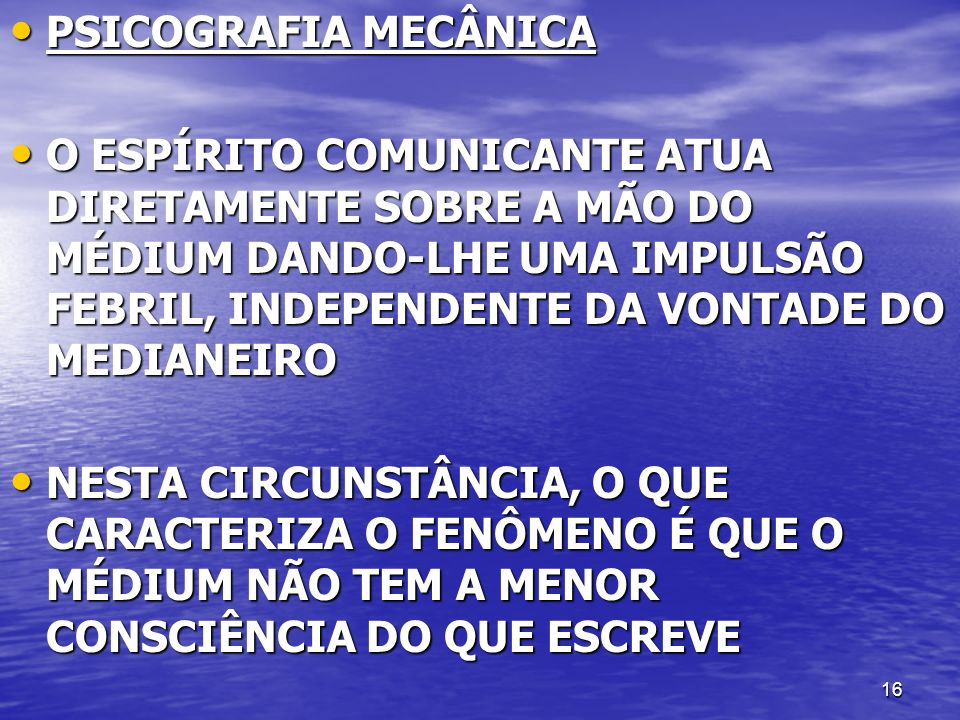 PSICOGRAFIA MECÂNICA