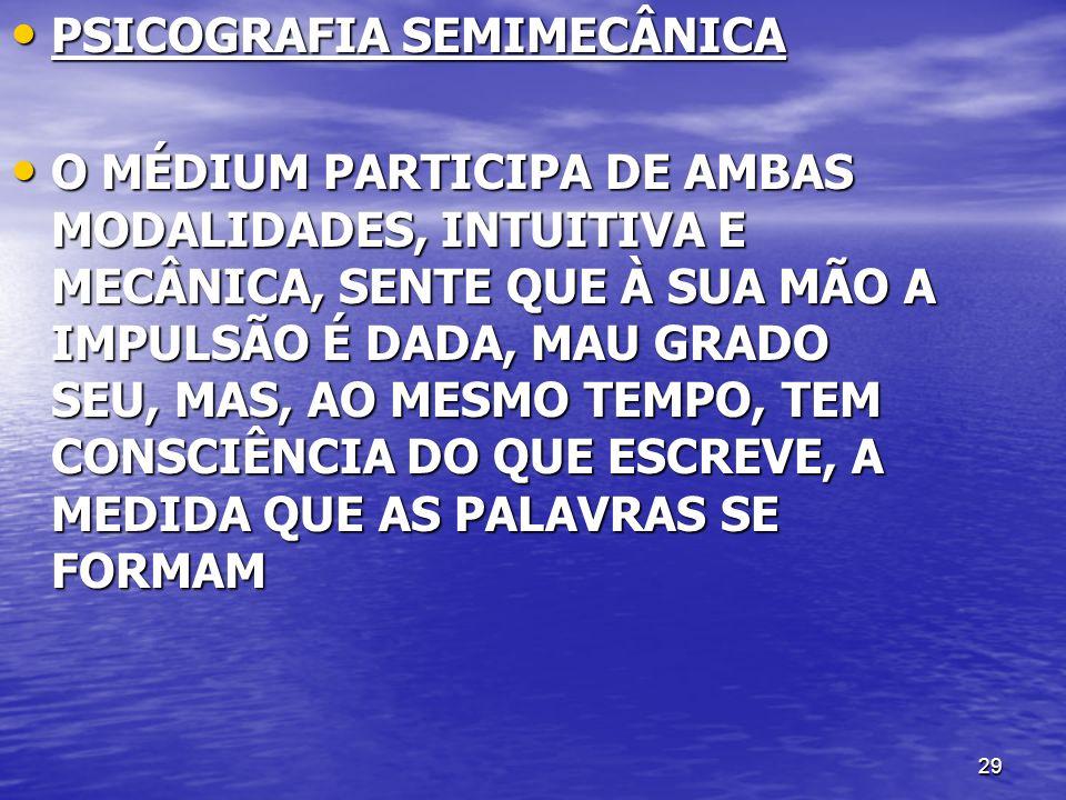 PSICOGRAFIA SEMIMECÂNICA