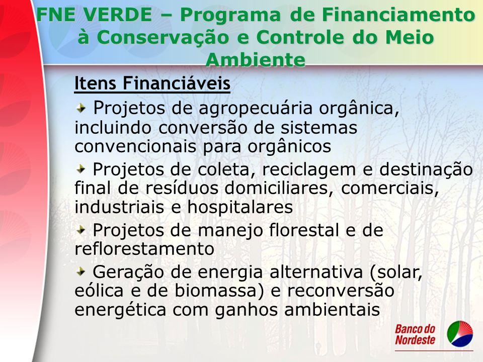 FNE VERDE – Programa de Financiamento à Conservação e Controle do Meio Ambiente