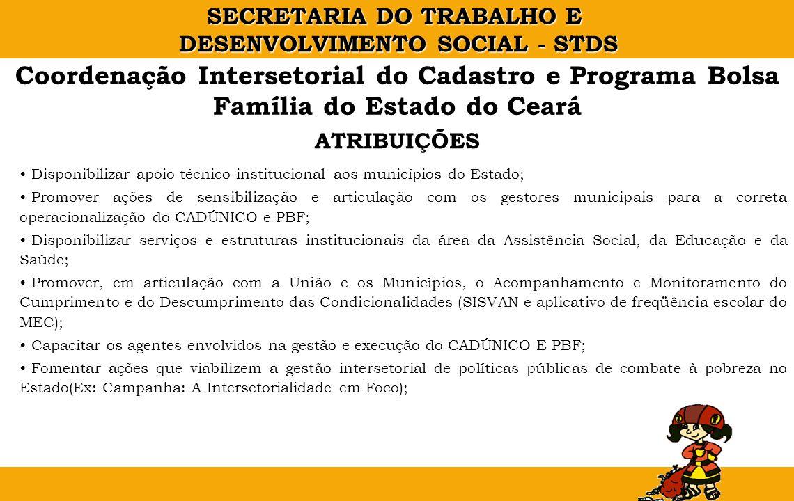 Coordenação Intersetorial do Cadastro e Programa Bolsa Família do Estado do Ceará