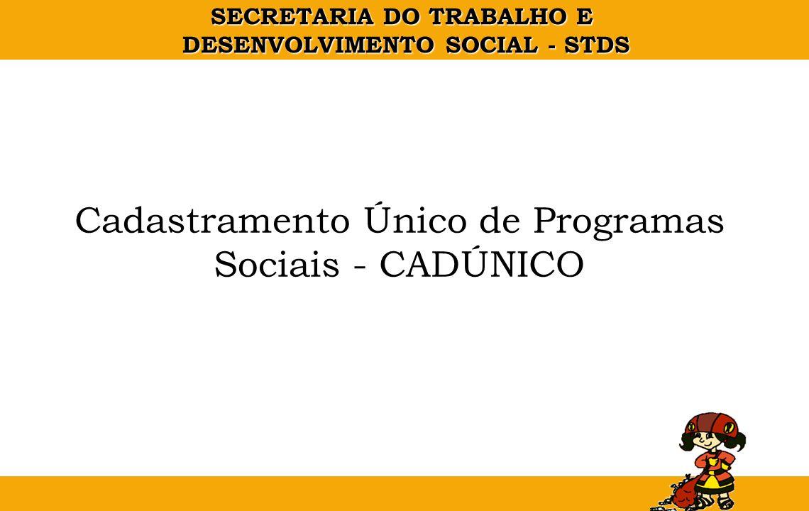 Cadastramento Único de Programas Sociais - CADÚNICO