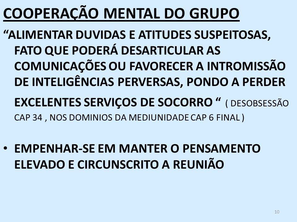 COOPERAÇÃO MENTAL DO GRUPO