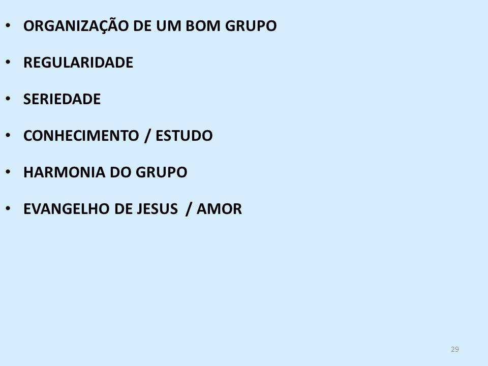 ORGANIZAÇÃO DE UM BOM GRUPO