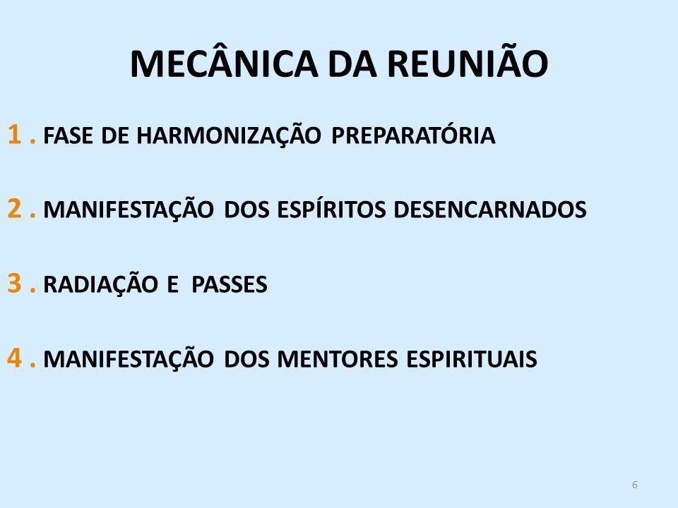 MECÂNICA DA REUNIÃO 1 . FASE DE HARMONIZAÇÃO PREPARATÓRIA