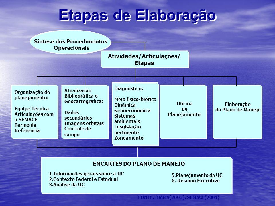 Etapas de Elaboração Atividades/Articulações/ Etapas