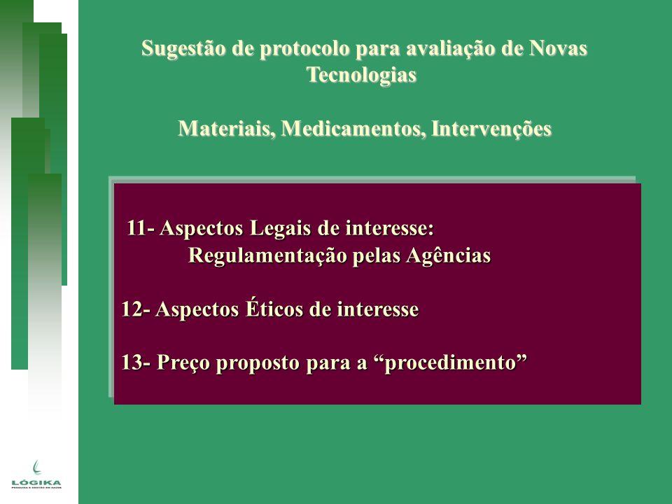 Sugestão de protocolo para avaliação de Novas Tecnologias
