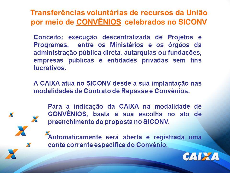 Transferências voluntárias de recursos da União
