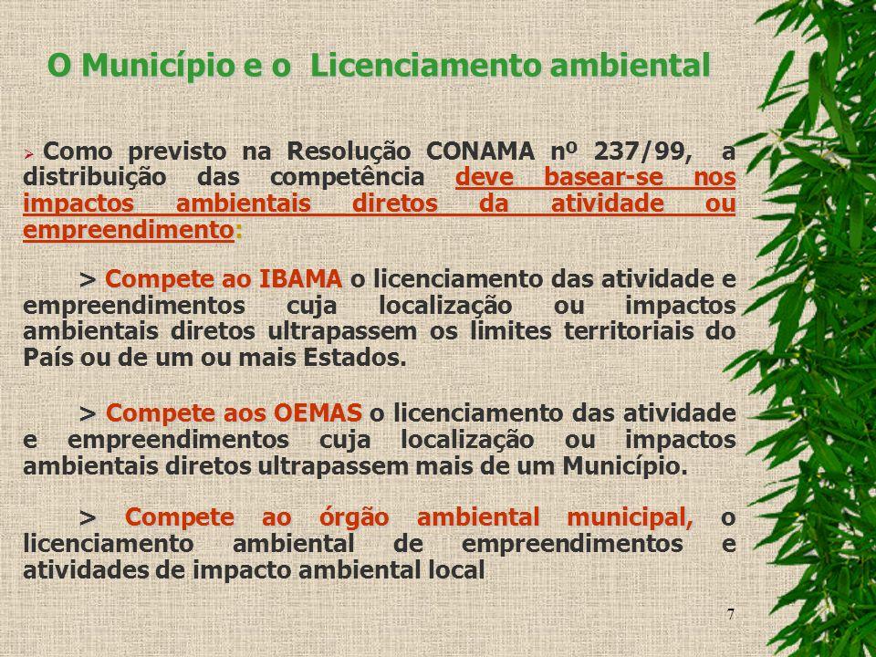 O Município e o Licenciamento ambiental