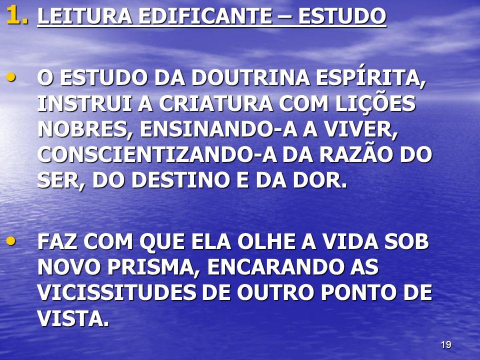LEITURA EDIFICANTE – ESTUDO