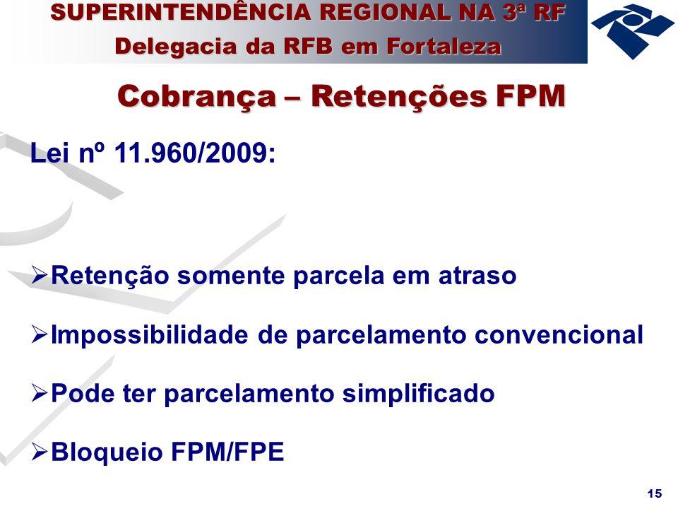 Cobrança – Retenções FPM