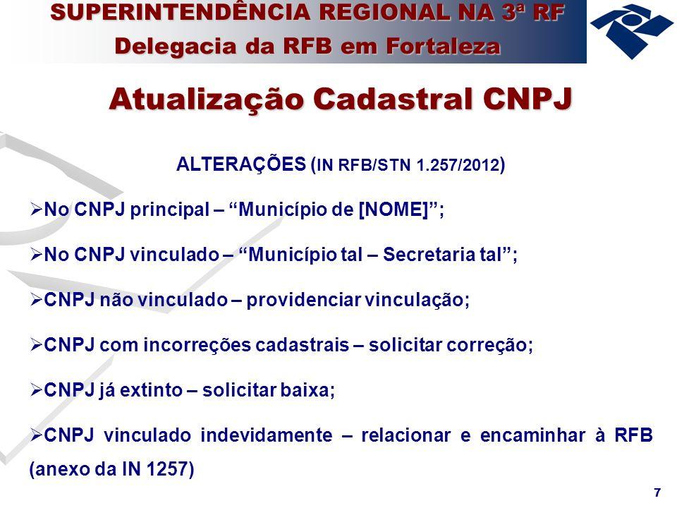 Atualização Cadastral CNPJ