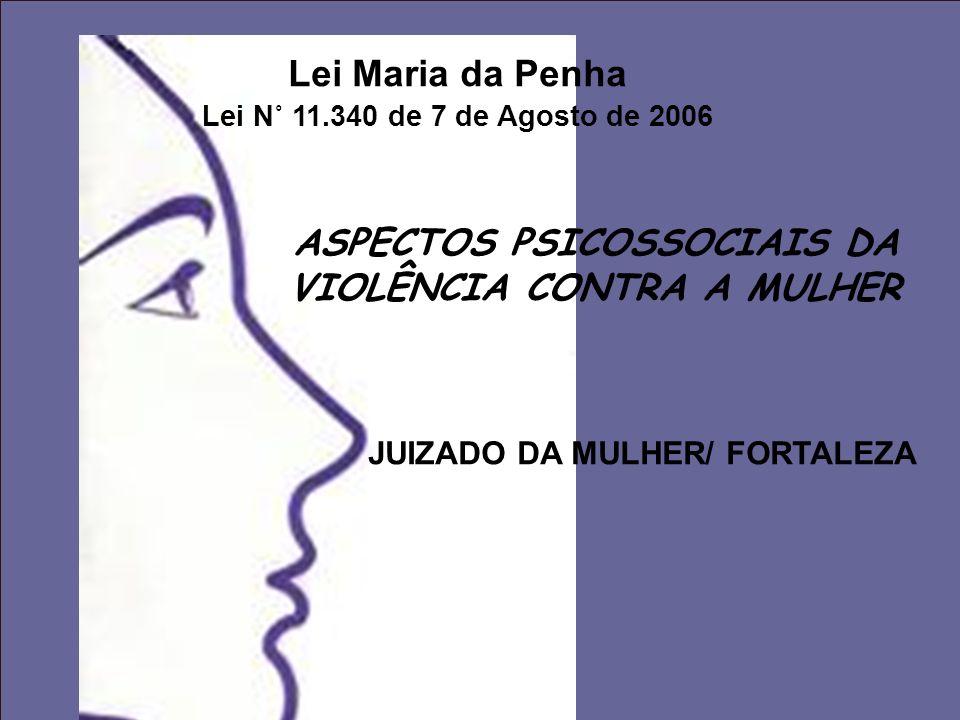 Lei Maria da Penha Lei N˚ 11.340 de 7 de Agosto de 2006