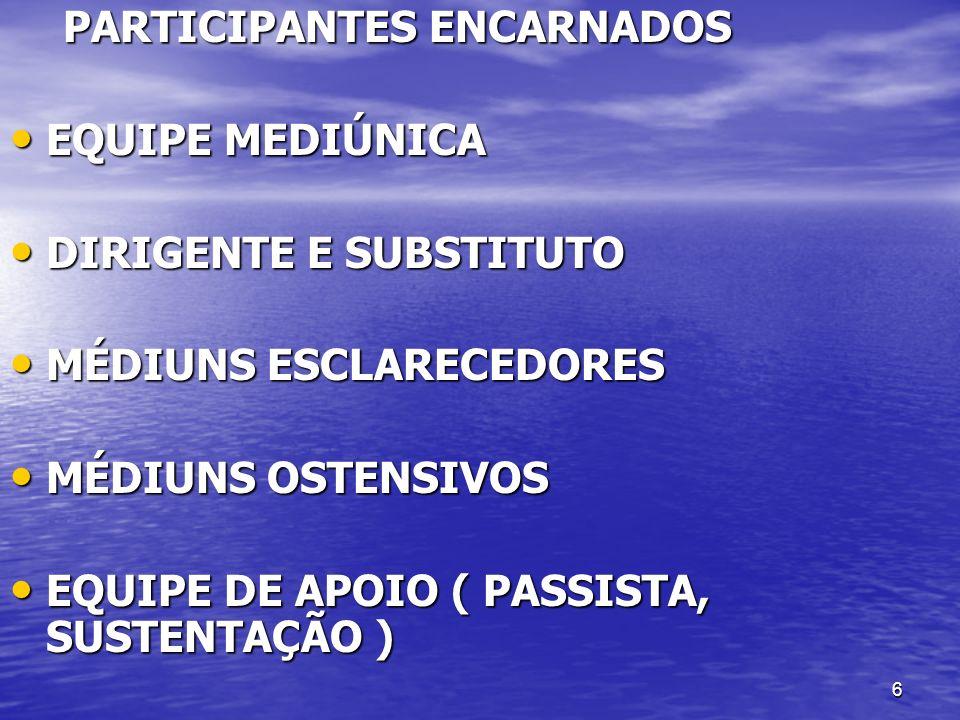 PARTICIPANTES ENCARNADOS
