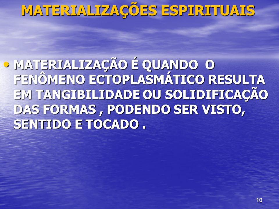 MATERIALIZAÇÕES ESPIRITUAIS