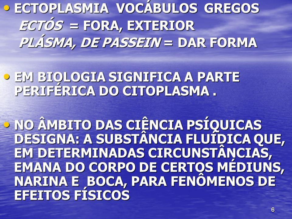 ECTOPLASMIA VOCÁBULOS GREGOS