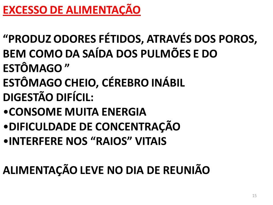 EXCESSO DE ALIMENTAÇÃO