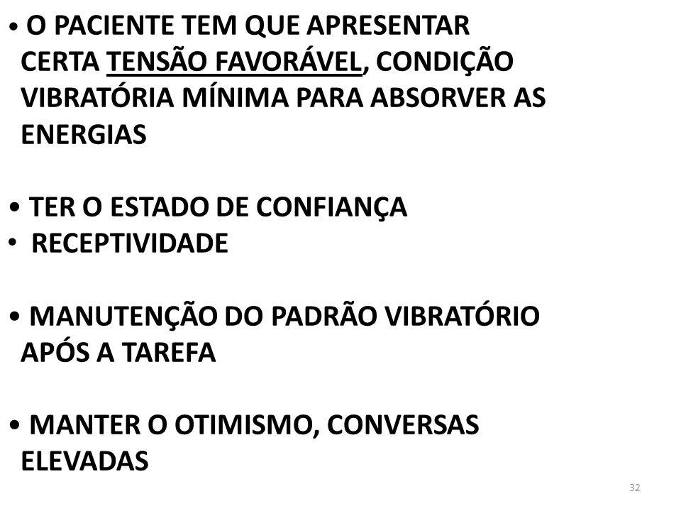 CERTA TENSÃO FAVORÁVEL, CONDIÇÃO VIBRATÓRIA MÍNIMA PARA ABSORVER AS