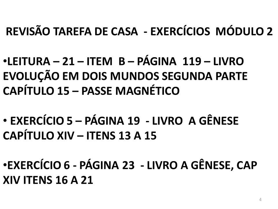 REVISÃO TAREFA DE CASA - EXERCÍCIOS MÓDULO 2