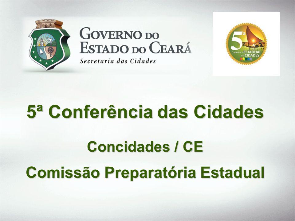5ª Conferência das Cidades Comissão Preparatória Estadual