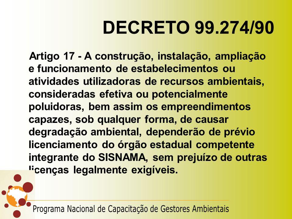 DECRETO 99.274/90