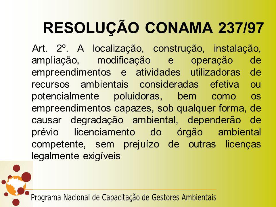 RESOLUÇÃO CONAMA 237/97